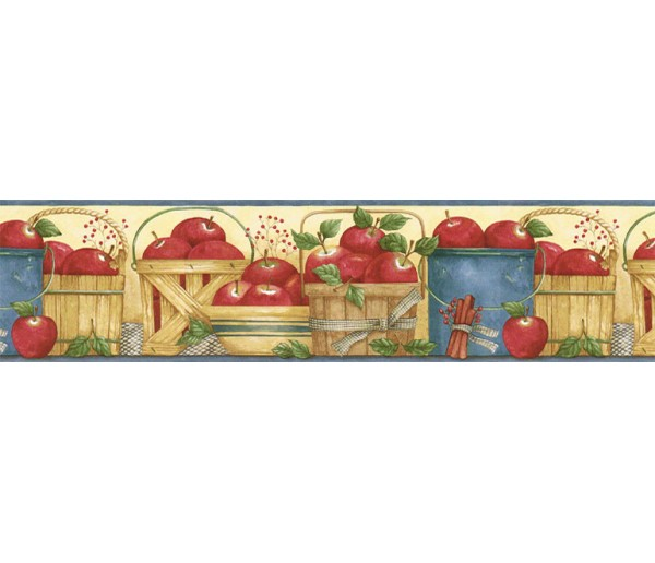 Garden Wallpaper Borders: Apple Fruits Wallpaper Border ACS59008B