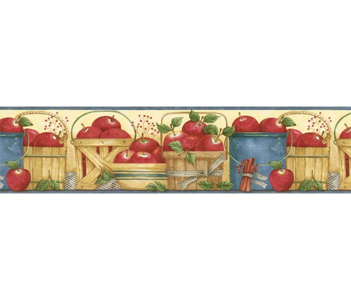 Garden Wallpaper Borders: Apple Fruits Wallpaper Border ACS59008B