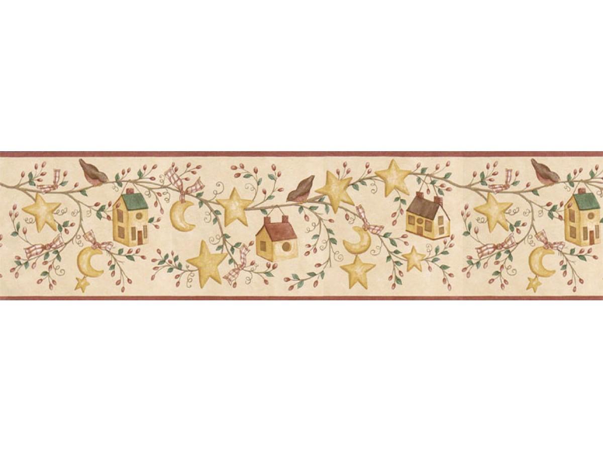 Birds House Wallpaper Border ACS59011B