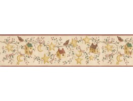 Prepasted Wallpaper Borders - Birds House Wall Paper Border ACS59010B