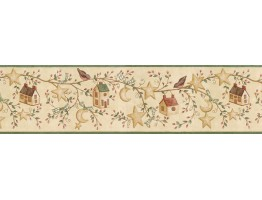 Prepasted Wallpaper Borders - Birds House Wall Paper Border ACS59011B