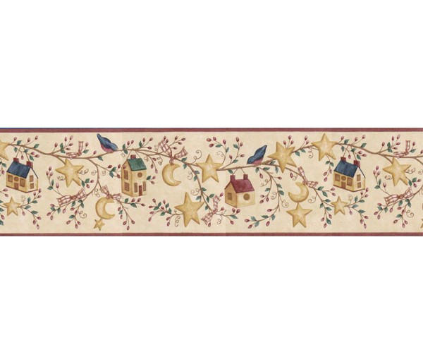 Bird Houses Wallpaper Borders: Birds House Wallpaper Border ACS59012B