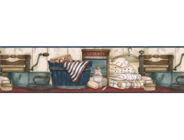 Laundry Wallpaper Border ACS59018B