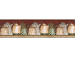 Prepasted Wallpaper Borders - Kitchen Wall Paper Border ACS59020B