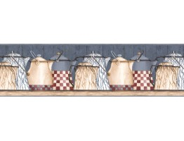 Prepasted Wallpaper Borders - Kitchen Wall Paper Border ACS59021B
