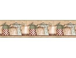 Prepasted Wallpaper Borders - Kitchen Wall Paper Border ACS59022B
