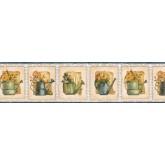 Prepasted Wallpaper Borders - Garden Wall Paper Border ACS59024B