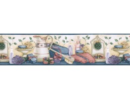 Prepasted Wallpaper Borders - Kitchen Wall Paper Border ACS59037B