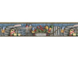 Prepasted Wallpaper Borders - Country Wall Paper Border ACS59041B