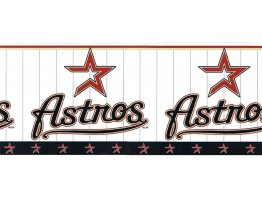 Prepasted Wallpaper Borders - Astros Wall Paper Border 594322