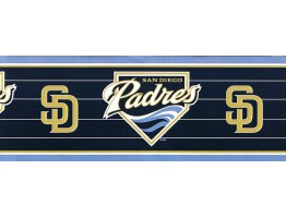 Prepasted Wallpaper Borders - Padres Wall Paper Border 594328