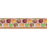 Clearance: Apple Fruits Wallpaper Border B597426