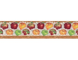 Prepasted Wallpaper Borders - Apple Fruits Wall Paper Border B597426
