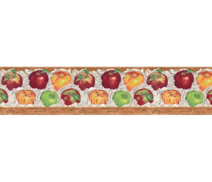 Clearance: Apple Fruits Wallpaper Border B597426