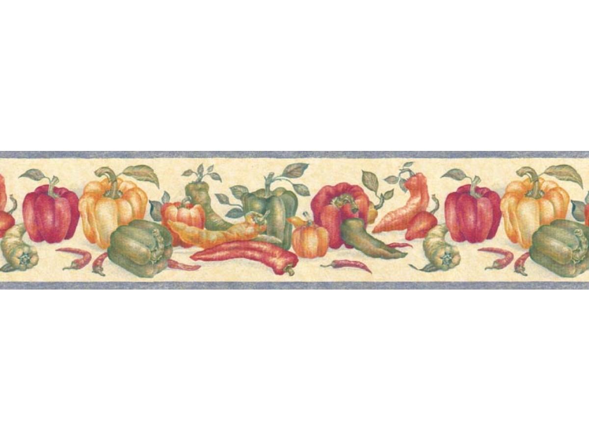 Kitchen Wallpaper Borders : Vegetables Wallpaper Border ...