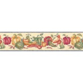 Kitchen Wallpaper Borders: Vegetables Wallpaper Border bb6044STN