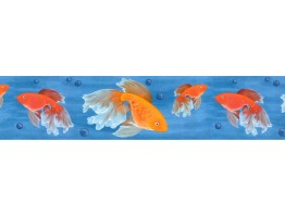 6 7/8 in x 15 ft Prepasted Wallpaper Borders - Fish Wall Paper Border B61005
