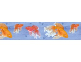 Prepasted Wallpaper Borders - Fish Wall Paper Border B61006