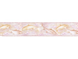 5 in x 15 ft Prepasted Wallpaper Borders - Fish Wall Paper Border b6122