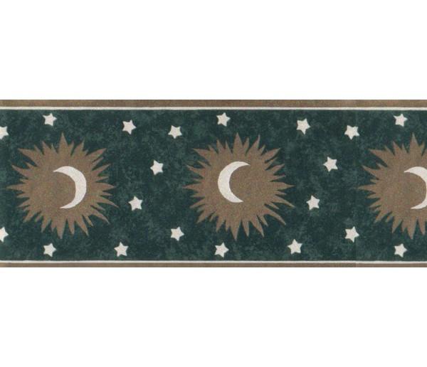 Sun Moon Stars Borders Sun, Moon and Stars Wallpaper Border b61254 FSC Wallcoverings