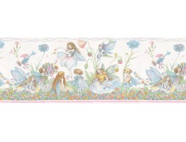 10 1/4 in x 15 ft Prepasted Wallpaper Borders - Angels Wall Paper Border B6186