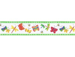 5 1/4 in x 15 ft Prepasted Wallpaper Borders - Butterfly Wall Paper Border B6231CI