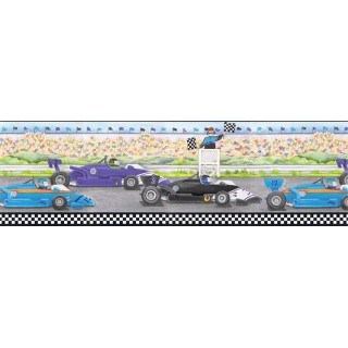 9 in x 15 ft Prepasted Wallpaper Borders - Cars Wall Paper Border b6257ci