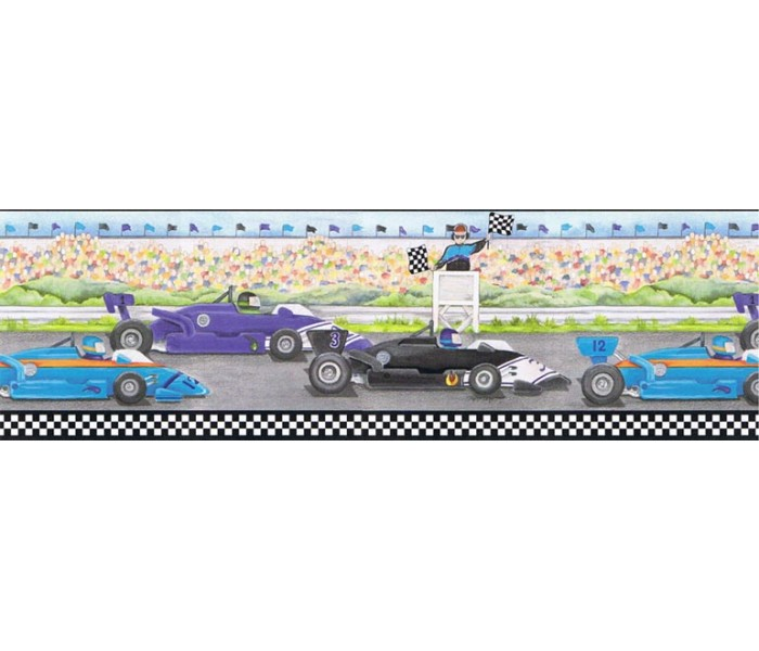 Boys Wallpaper Borders: Cars Wallpaper Border b6257ci