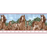 Clearance: Horses Wallpaper Border b6265WB