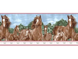 10 1/4 in x 15 ft Prepasted Wallpaper Borders - Horses Wall Paper Border b6265WB