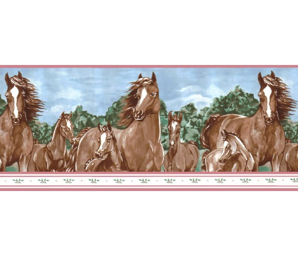 Clearance: Horses Wallpaper Border b6265WB