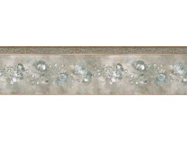 Prepasted Wallpaper Borders - Floral Wall Paper Border 65116