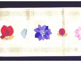 Prepasted Wallpaper Borders - Floral Wall Paper Border HHM6563B