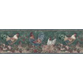 Clearance: Roosters Wallpaper Border B66166320