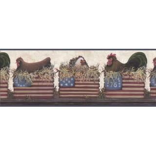 10 1/4 in x 15 ft Prepasted Wallpaper Borders - Birds Wall Paper Border B67052