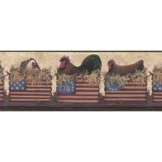 10 1/4 in x 15 ft Prepasted Wallpaper Borders - Birds Wall Paper Border B67053