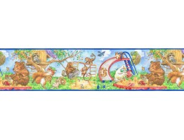 Prepasted Wallpaper Borders - Animals Wall Paper Border b6814jj