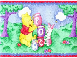 Prepasted Wallpaper Borders - Winnie the Pooh Wall Paper Border WFP6819