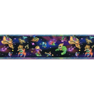 8 in x 15 ft Prepasted Wallpaper Borders - Kids Wall Paper Border b6824jj