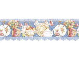 8 1/4 in x 15 ft Prepasted Wallpaper Borders - Kitchen Wall Paper Border b7001dc