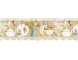 Prepasted Wallpaper Borders - Kitchen Wall Paper Border b7002