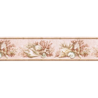 6 7/8 in x 15 ft Prepasted Wallpaper Borders - Counch Wall Paper Border BA7020B