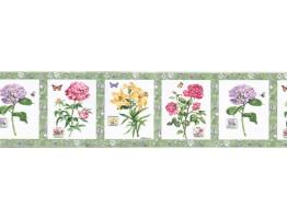 Floral Wallpaper Border BA7026B