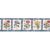 Clearance: Floral Wallpaper Border BA7027B