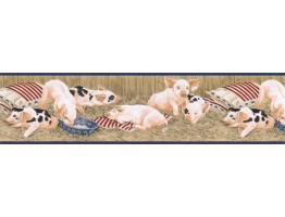 6 7/8 in x 15 ft Prepasted Wallpaper Borders - Animals Wall Paper Border B7101AFR