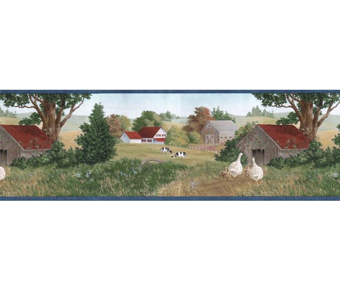 Clearance: Country Wallpaper Border B7116AFR