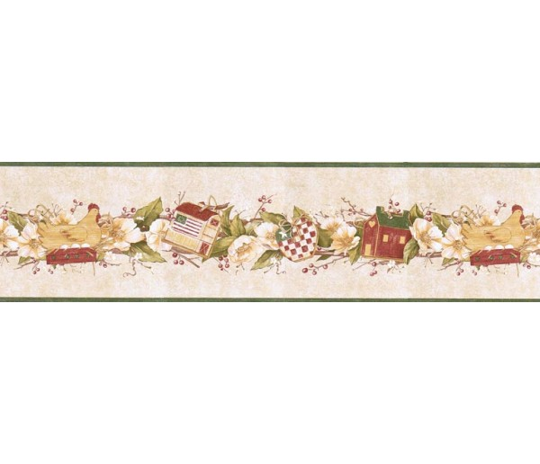 Prepasted Wallpaper Borders - Birds House Wall Paper Border B7124AFR