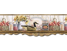 Prepasted Wallpaper Borders - Kitchen Wall Paper Border B7127AFR