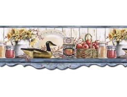 Prepasted Wallpaper Borders - Kitchen Wall Paper Border B7128AFR