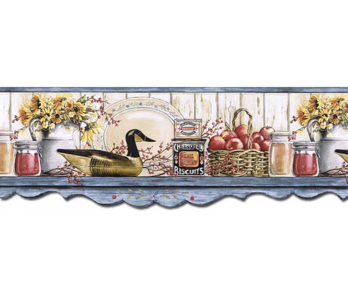 Kitchen Wallpaper Borders: Kitchen Wallpaper Border B7128AFR